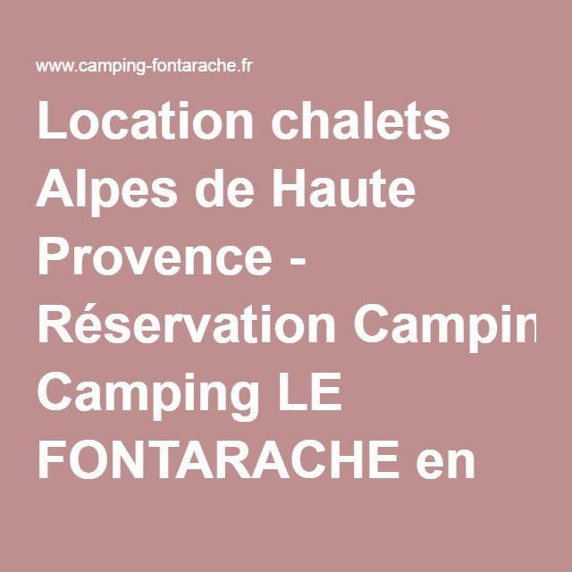 Location chalets Alpes de Haute Provence - Réservation Camping LE FONTARACHE en Provence Alpes Côte d'Azur à Barcelonnette