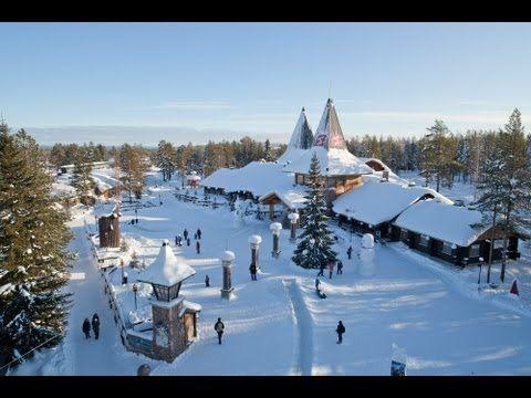 Rovaniemi en Laponia desde el cielo