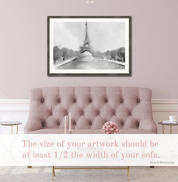 How To Choose Hang Art Over The Sofa Hanging