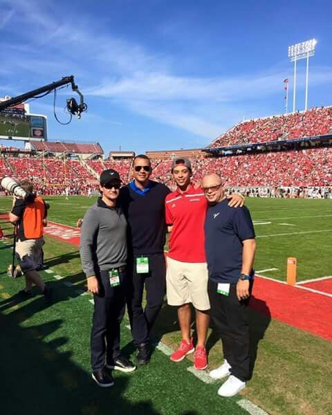 Alex Rodriguez visiting our NC State University 2016
