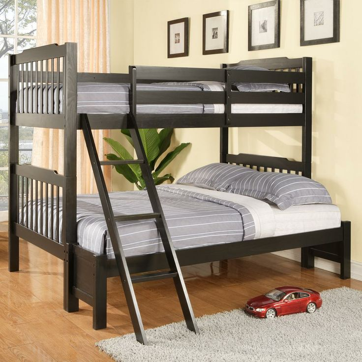 this spacious bunk bed lets your kids share a room it features a full