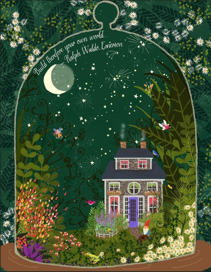 Home by Joy Laforme (an illustrator and textile artist from Hudson Valley, New York)