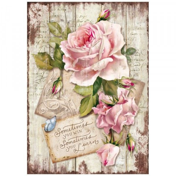 Stamperia Ριζόχαρτο Decoupage A4 Sweet Time Rose