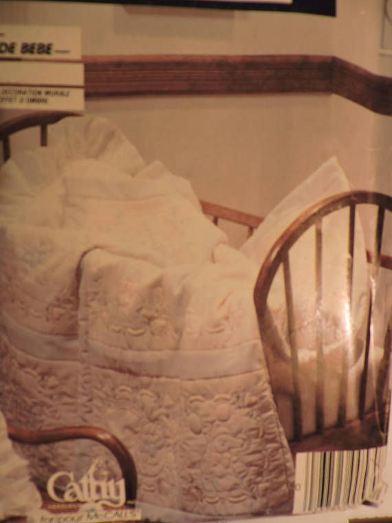 Baby's Room Candlewicking Trapunto Quilt Pillow