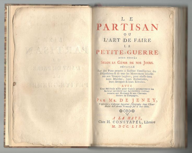 """Jeney, """"Le partisan"""" (1759). Page de titre intérieure."""