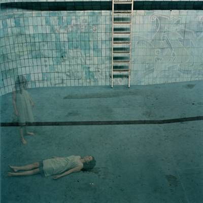 "Anja Niemi ""In the pool"" (Galleri Ramfjord) from the ""Stadtbad"" series 2006"