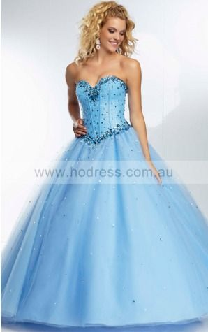 Sleeveless Sweetheart Lace-up Tulle Floor-length Formal Dresses zyh171