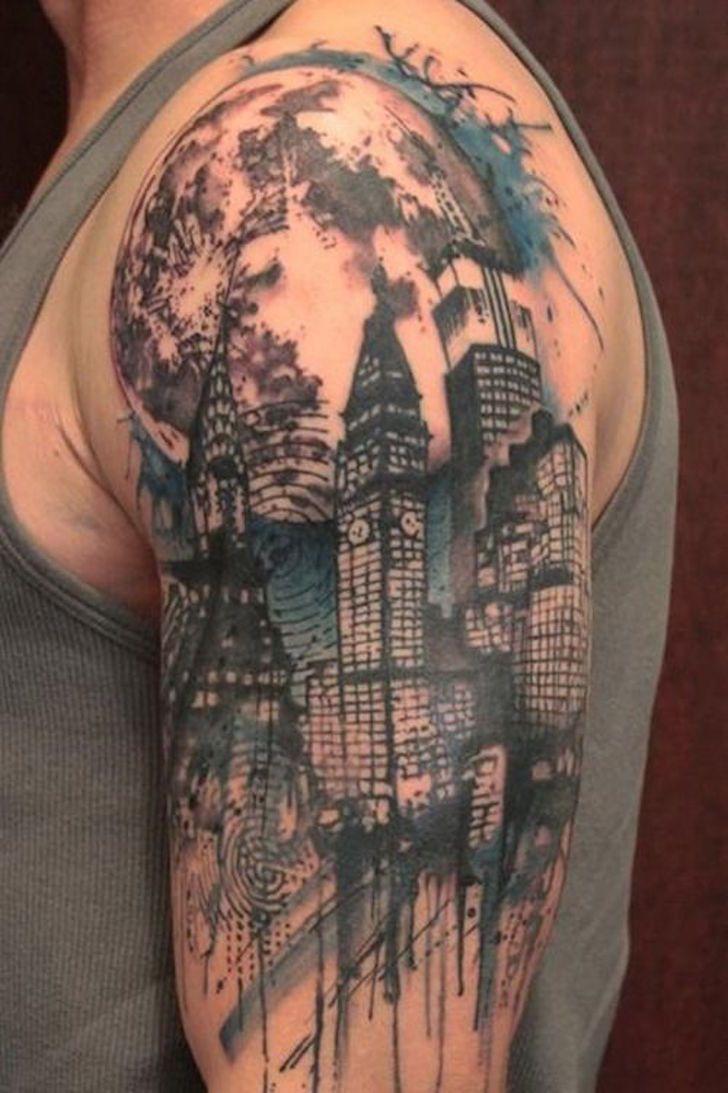 city skyline tattoo - Google Search   work   Pinterest ...