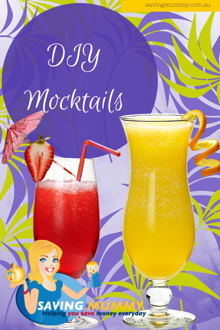 DIY Non-Alcoholic Mocktail #Drinks