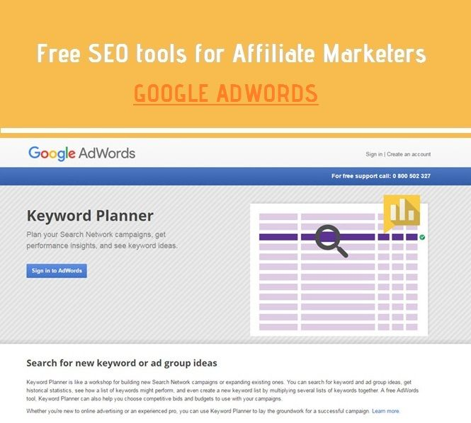 The tool requires you to create an AdWords account. With this tool, you can narrow down the search by location, city, language, and some other smart filters with which the Keyword Planner has been pre-loaded.