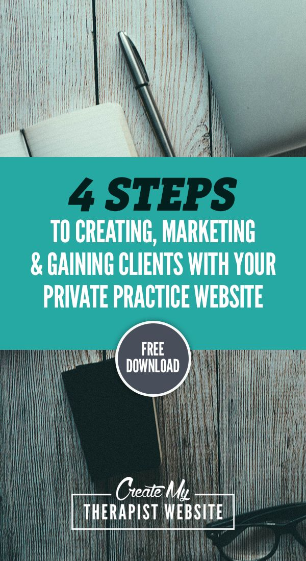 Download the 4 Steps to Creating a Successful Therapy Website | Create My Therapist Website