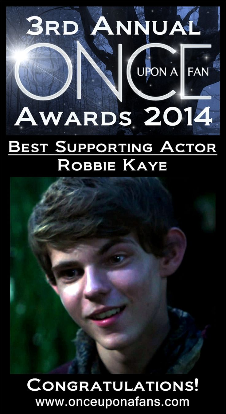 Fan favourite Robbie Kay terrified us with his dark take on Pan. You voted him Best Supporting Actor #OnceUponATime #OnceUponAFanAwardsDay