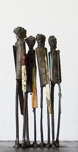 "www.byjohan.se - metal sculptures by JP Jonsson  ""Standing Four I"""