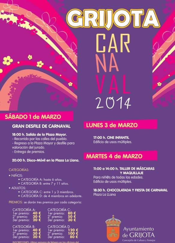 Carnaval de Grijota 2014 Palencia