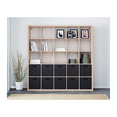 kallax shelving unit white stained oak effect ikea. Black Bedroom Furniture Sets. Home Design Ideas