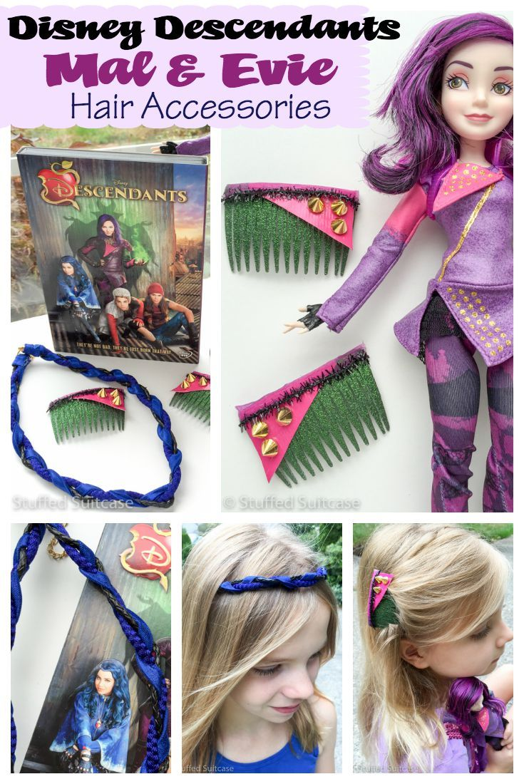 Diy Disney Hair Accessories For Descendants Mal And Evie