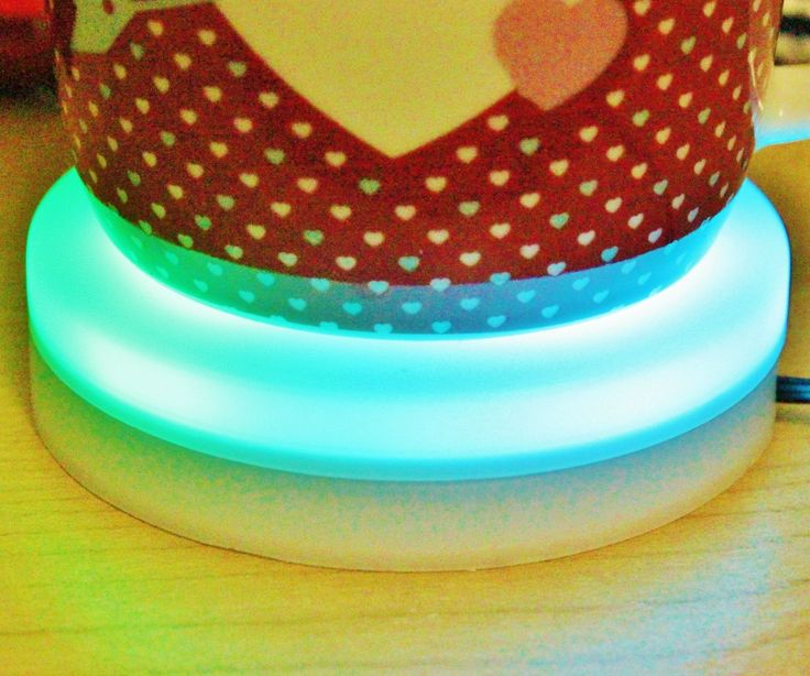 CLOUD CONTROLLED LED COLOR CHANGING COFFEE COASTER TEMPERATURE INDICATOR