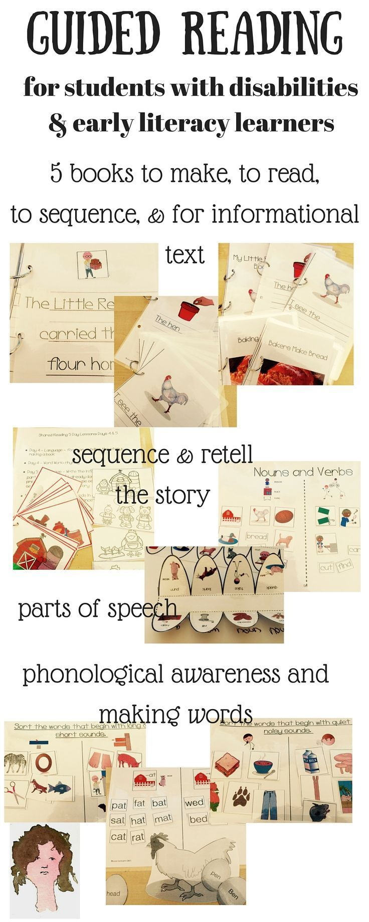 Incorporate shared reading and literacy instruction into your group of special education students with the materials for The Little Red Hen, covering vocabulary, sequencing, comprehension, retelling, grammar, reading & writing & word work, and more.This has been written for students with special needs, but is also appropriate for general ed and differentiated learning.What's included?Discussion of shared reading Hierarchy of comprehension questionsCCSS coveredI Can posters for CCSS/