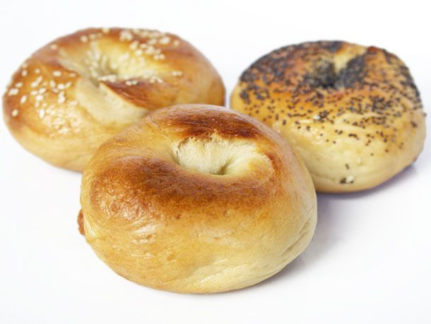 Homemade bagels.  You can use your  Kitchenaid instead of the food processor, just  put on low until satiny/elastic (about 10 min)