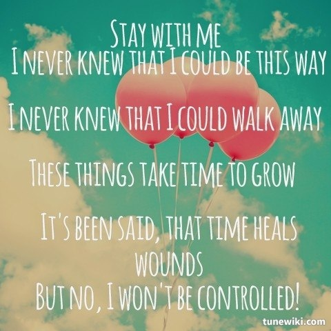 you meet me at six stay with lyrics