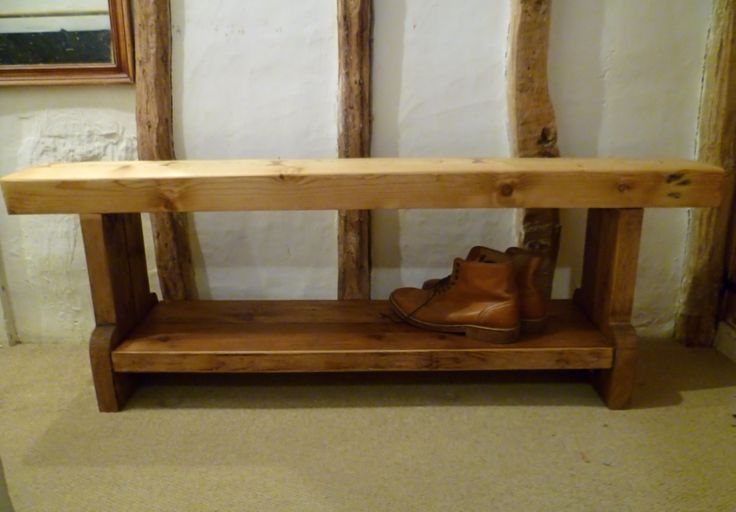 Shoe Bench, Shoe Station, Reclaimed Timbers, Rustic,
