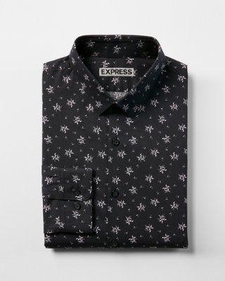 b162af33d446 extra slim floral print dress shirt