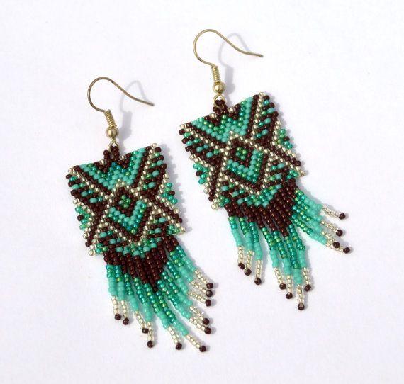 Orecchini di perline turchesi  artigianato  stile di BEhAnDson