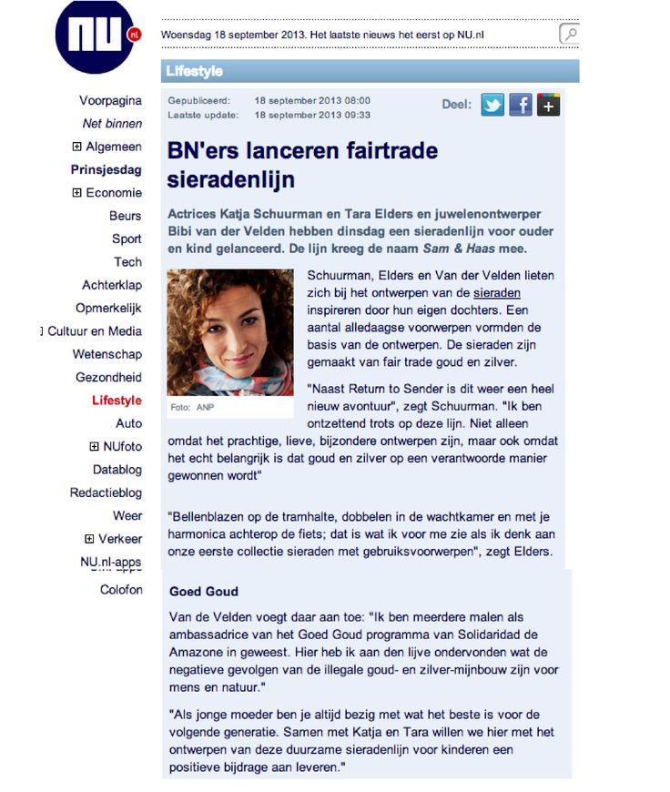 NU.nl September 2013 - Sam&Haas