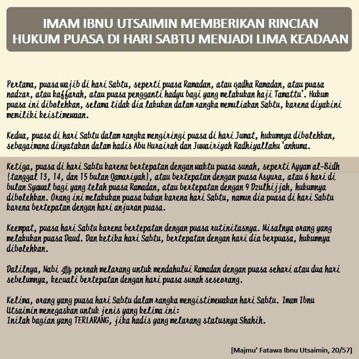 Follow @NasihatSahabatCom http://nasihatsahabat.com/benarkah-kita-dilarang-puasa-di-hari-sabtu/ #nasihatsahabat #mutiarasunnah #motivasiIslami #petuahulama #nasihatulama #fatwaulama #akhlak #akhlaq #sunnah #salafiyah #Muslimah #adabIslami #ManhajSalaf #Alhaq #Islam #ahlussunnah  #sunnah #tauhid #dakwahtauhid #alquran  #salafy  #laranganpuasahariSabtu #dilarangpuasahariSabtu #hukum, #benarkahkitadilarangpuasadihariSabtu #puasaharisabtuadalimakeadaan #fatwaSyaikhUtsaimin #shaum #sifatpuasanabi