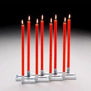 Table candelabro, designer candle.