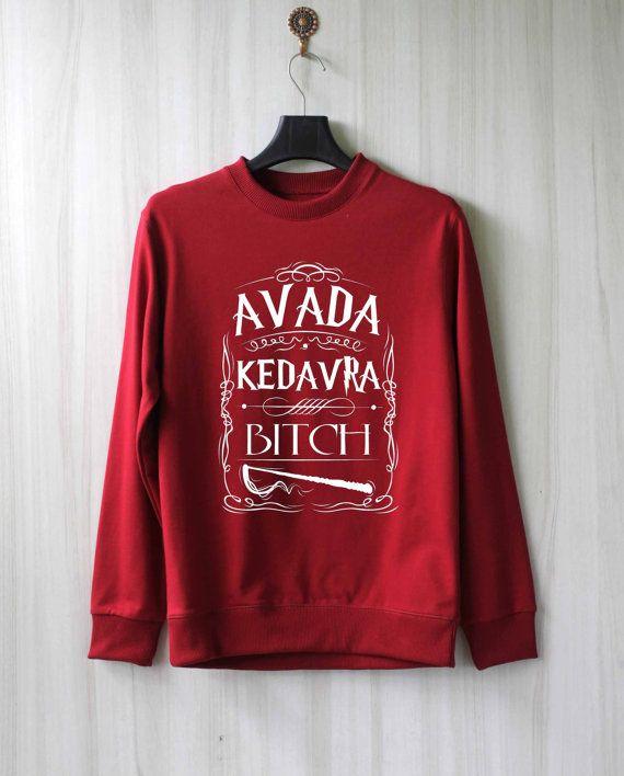 Avada Kedavra Harry Potter Shirt Sweatshirt Sweater Shirt by SaBuy