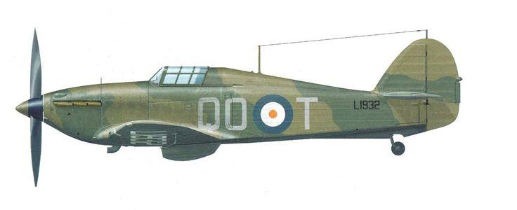"planecolours: "" Hawker Hurricane MKI QO-T RAF , Frank Carey, France 1940 "" (Thierry Dekker), pin by Paolo Marzioli"