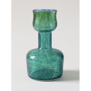 KARCAG-Hungary-Green-Crackle-Veil-Glass-Tulip-Form-Art-Glass-Vase