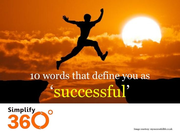 10 words that define you as 'successful' by Simplify360 via slideshare