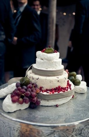 20 Cheese Wedding Cakes | SouthBound Bride | http://www.southboundbride.com/how-to-style-a-cheese-wedding-cake | Credit: Stephan Marais/Fairview