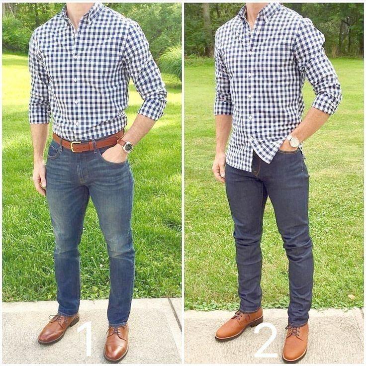 E6232 New Fashion Men/'s Casual Stylish Wash Jeans Long Sleeve Denim Shirts