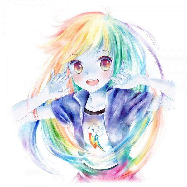 FINALLY: an appropriate fan-art Rainbow Dash as a human, drawing!!