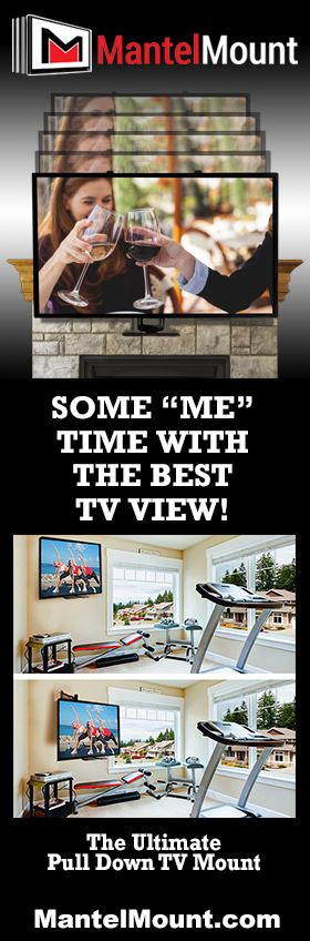 Whether watching TV on the couch, in your home gym, on the furnished patio or in bed...it should be watched in comfort at eye-level. This Pull-Down TV wall mount really has it all. Full-range motion allows you to adjust the TV in any direction, eliminating TV screen glare & neck strain. Mantel Mount's eye-level viewing gives you true comfort & the perfect TV experience every time.