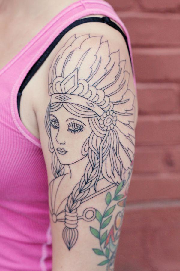 Indian girl tattoo, love.