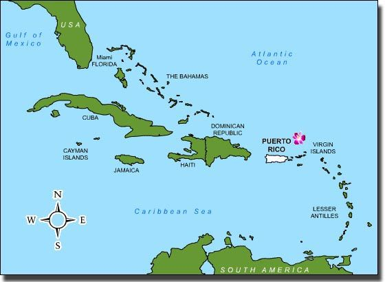 Best Maps Caribbean Images On Pinterest Traveling - Map of puerto rico caribbean islands