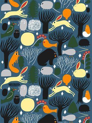 Marimekko fabric Huhuli 066234.520 - Shannon Furniture