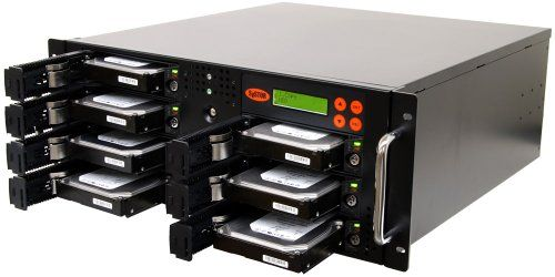 Systor Systems 1:6 SATA Hard Disk Drive / Solid State Drive Rackmount Clone Duplicator/Sanitizer(SYS206RMHDD)