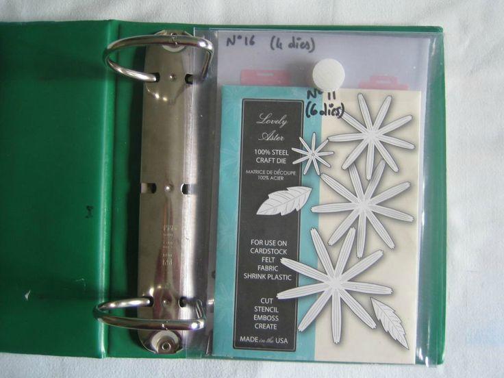 Faire des pochettes de rangement pour tampons, dies, pochoirs... avec de la nappe transparente - tutoriel