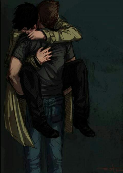 """Omg this is my FAVORITE Destiel fanart so far it's just SO PERFECT OMG. aND HAVE YOU GUYS HEARD """"Hey There, Dean"""" it's a Destiel song (parody of Hey There Delilah) and it mentions the pizza man from that one episode in season 6 and it's perfect too so go watch it NOOOOOOW!!!!<<<<this fic omg"""