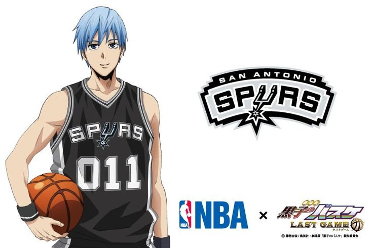 【NBA × Theatrical Version Kuroko no Basuke】 Collaboration Visual 3rd is Kuroko! The team to collaborate is San Antonio Spurs! Spurs showing steady strength with overwhelming teamwork and high technology, although not gorgeous, has places where you can communicate with Kuroko's dedicated basketball style. # Kurobas