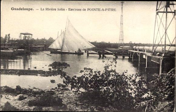 Pointe a Pitre Guadeloupe, La Riviere Salee, Segelboot