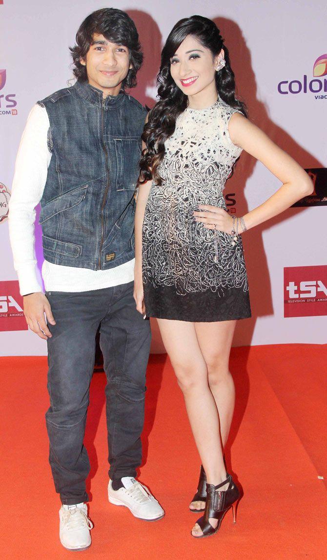 Shantanu Maheshwari and Vrushika Mehta at the Television Style Awards.