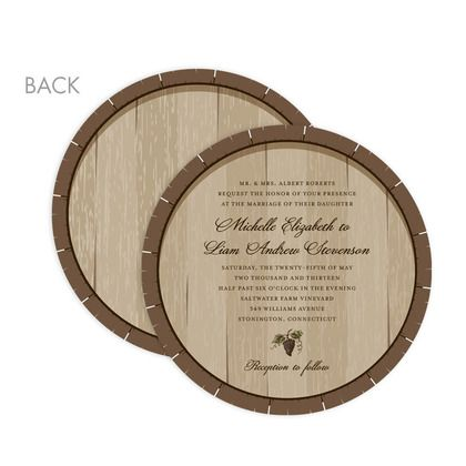 Wedding Stationery Wednesday: Winery Wedding Invitations