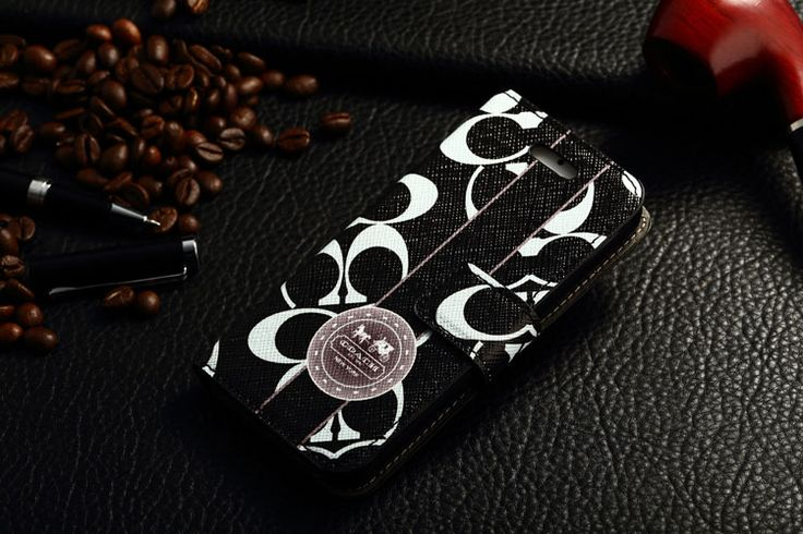 Coach iPhone 7 Book Wallet Cases Black