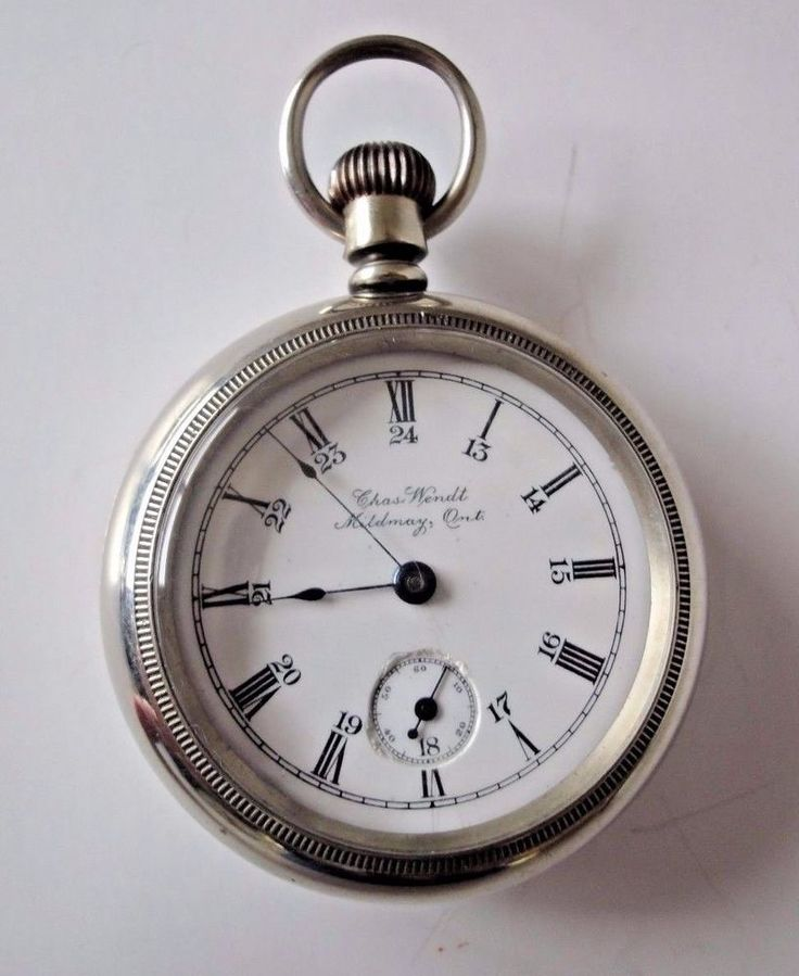 "Hampden 15 Jewel Pocket Watch Private Label ""Chas. Wendt Mildmay Ont."" #Hampden"